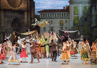 DON QUIXOTE (The performance of the Ballet Theater. L. Jacobson)